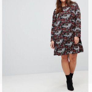 Glamours curve long sleeve swing dress